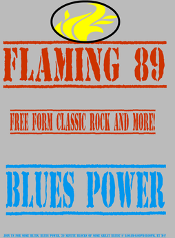 Flaming 89 Blues Power logo
